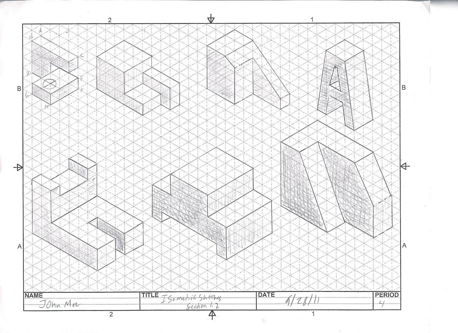 4john Moe Pltw Ied Blog 1 2 1 Isometrinc Sketches
