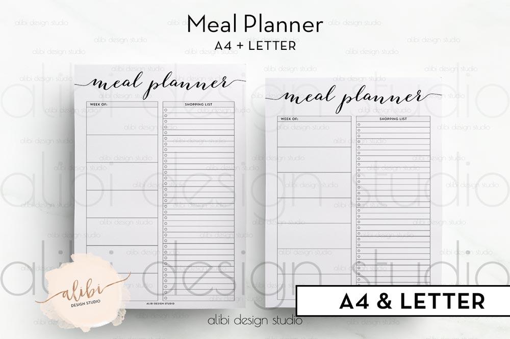 picture regarding Freebie Planner titled Freebie - Supper Planner Printable Alibi Style and design Studio