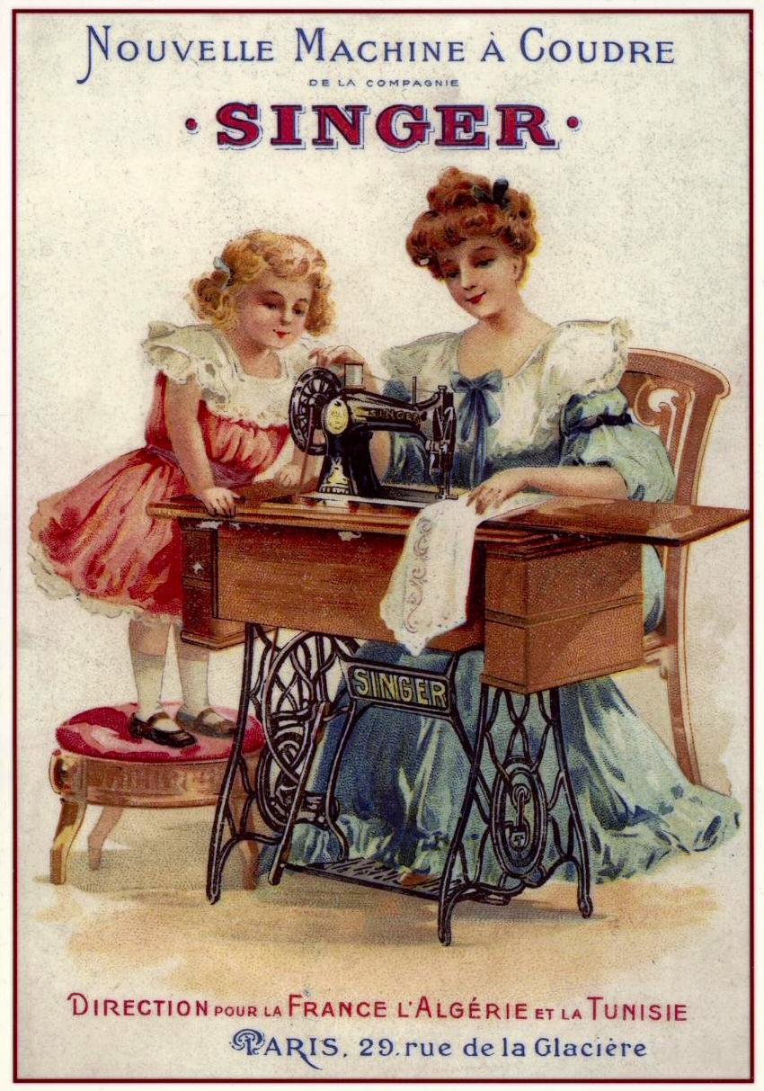 magical vintage de johanne l affiche publicitaire singer. Black Bedroom Furniture Sets. Home Design Ideas