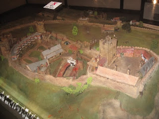 Model of Nottingham Castle circa 1500