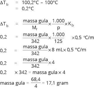 menghitung massa zat untuk menaikkan titik didih larutan hingga suhu tertentu