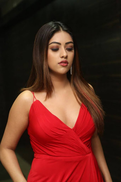 anu emmanuel at oxygen movie audio launch hot pics in red