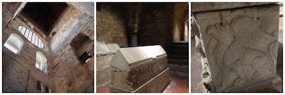 Alcuni particolari dei sarcofagi riusati come tombe medievali