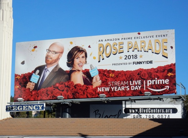 Rose Parade 2018 Amazon Prime billboard