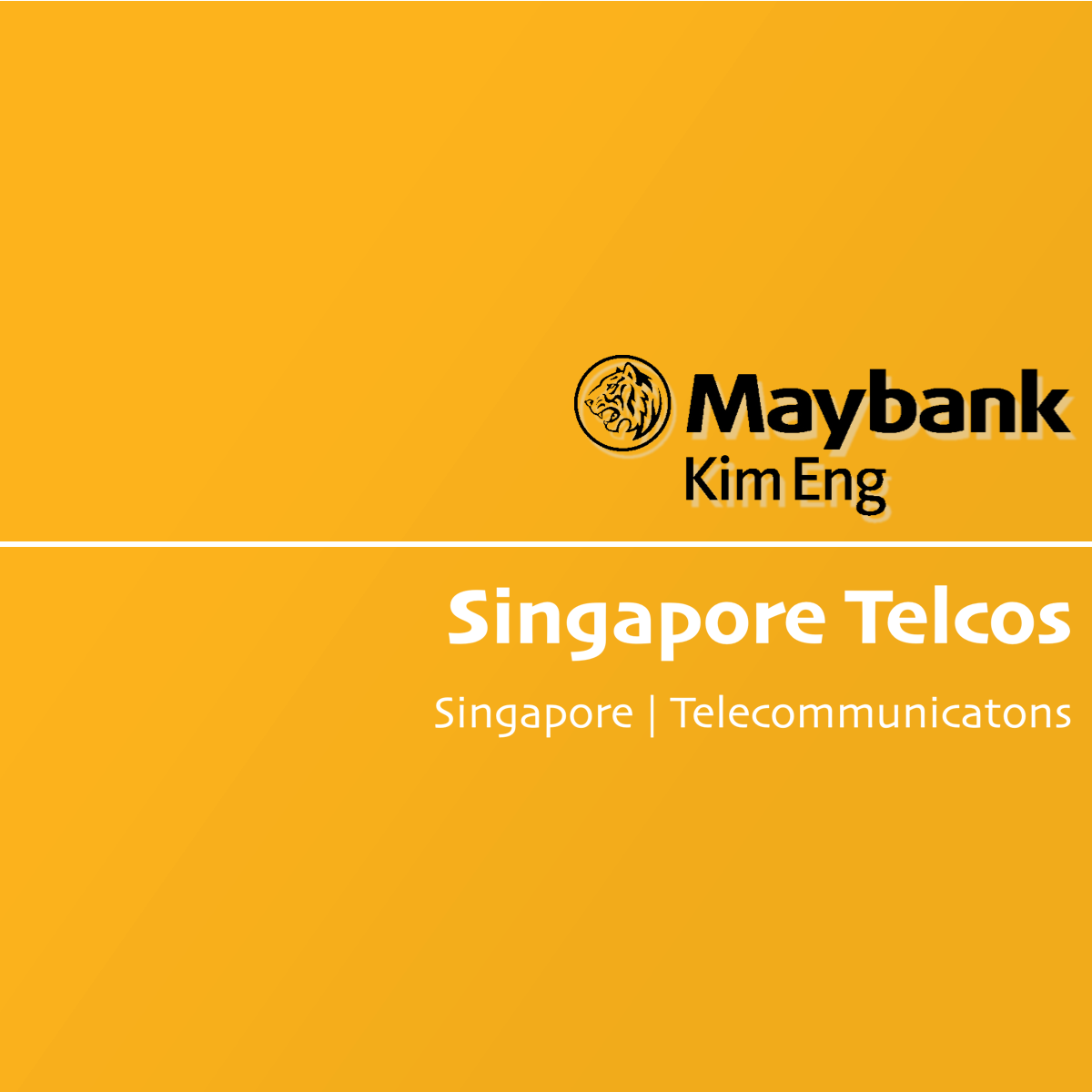 Singapore Telcos - Maybank Kim Eng Research | SGinvestors.io