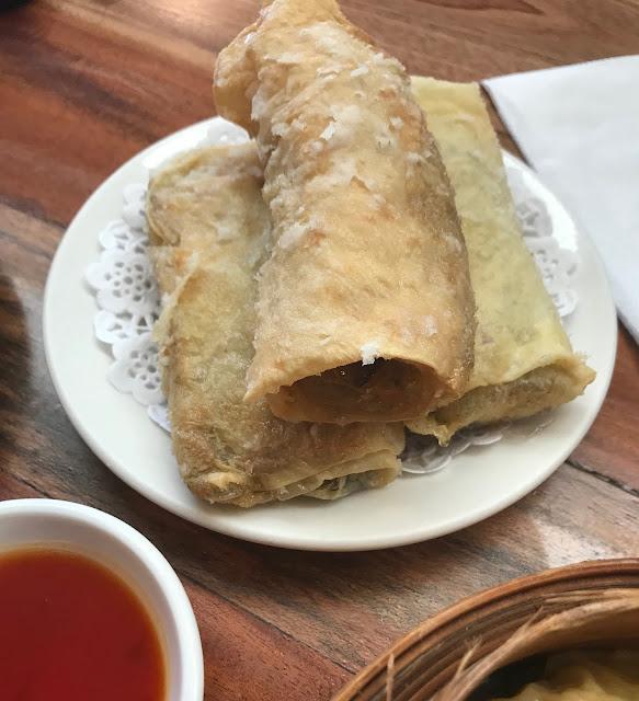 Secret Kitchen Express, Doncaster, vegetarian spring rolls