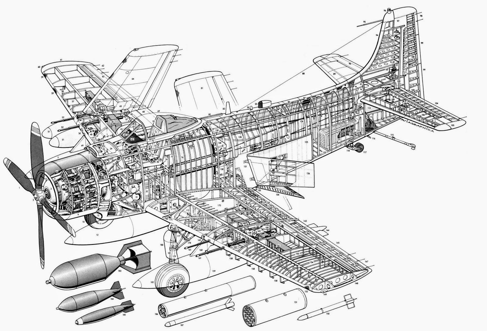 Aviones Caza Y De Ataque Douglas A 1 Skyraider