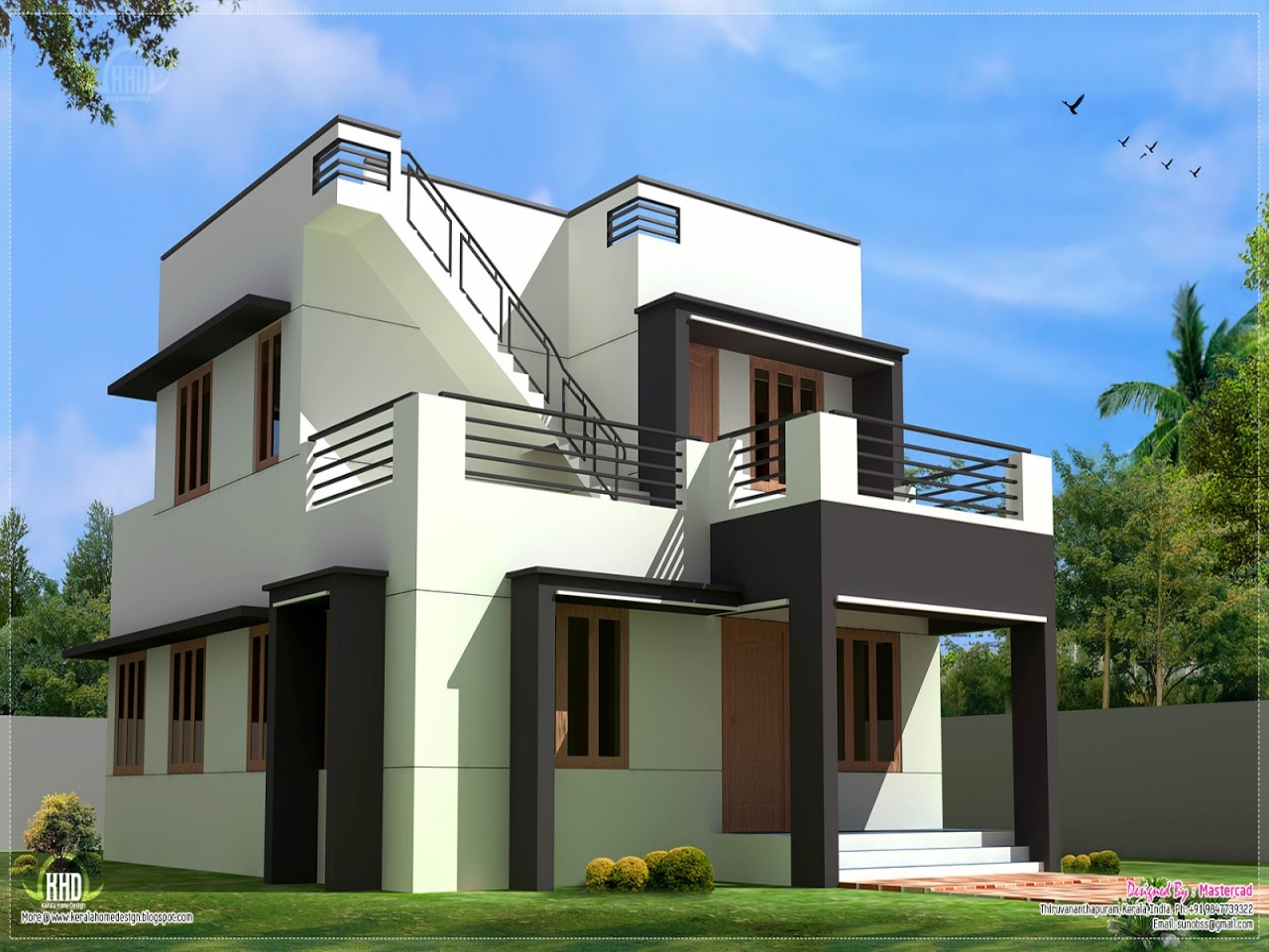Collection 50 beautiful narrow house design for a 2 story for Beautiful house design