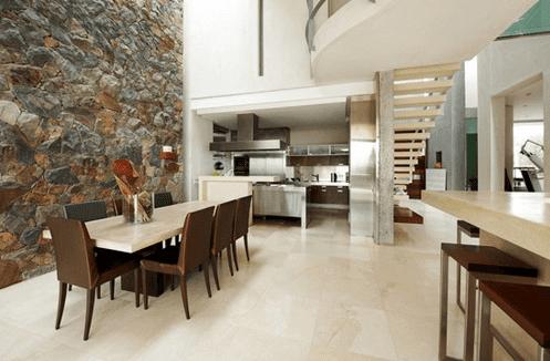 Desain Interior Rumah Minimalis Menggunakan Batu Alam