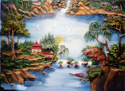 Taman Relief 3D - dekorasi Taman | Jasa Tukang Taman Surabaya XIV