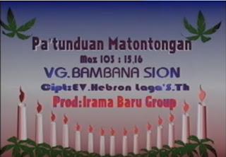 Lirik Lagu Pa'tunduan Matontongan (Bambana Sion)