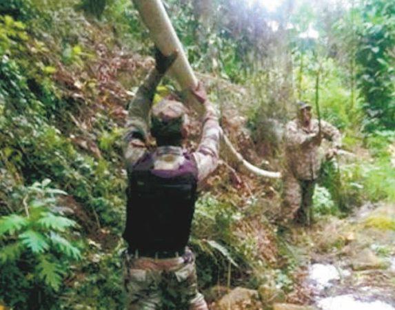 Autoridades retiran tuberías Valle Nuevo