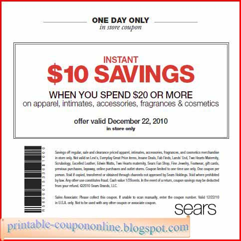 Sears appliance coupon codes