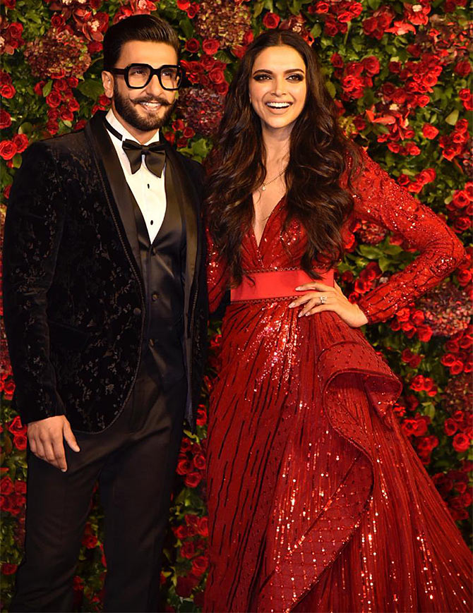 30 celebrities who attended Ranveer Singh and Deepika Padukone's wedding reception.