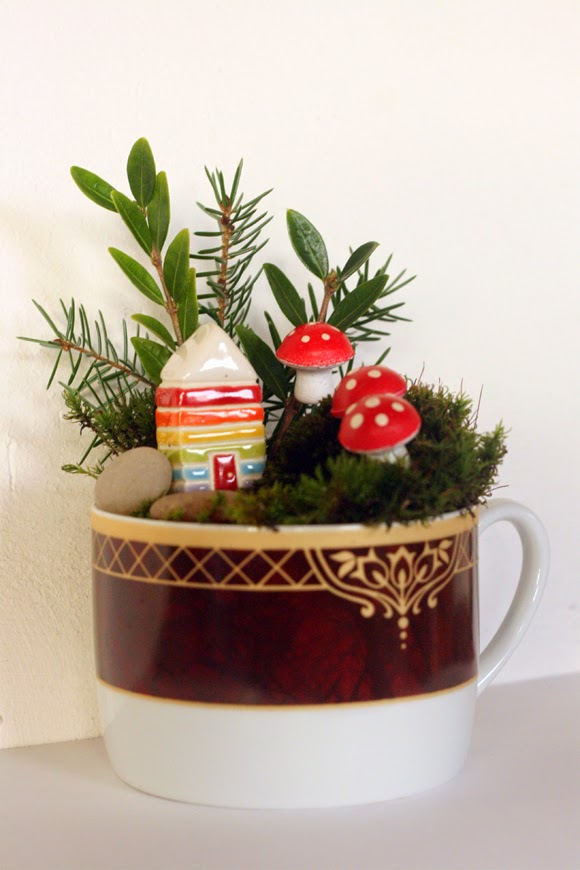 make a fairy garden in a cup - a diy tutorial | artsy ants