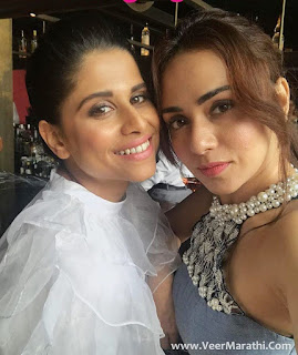 Amruta Khanvilkar and Sai Tamhankar At Miss Malini's Book Launch