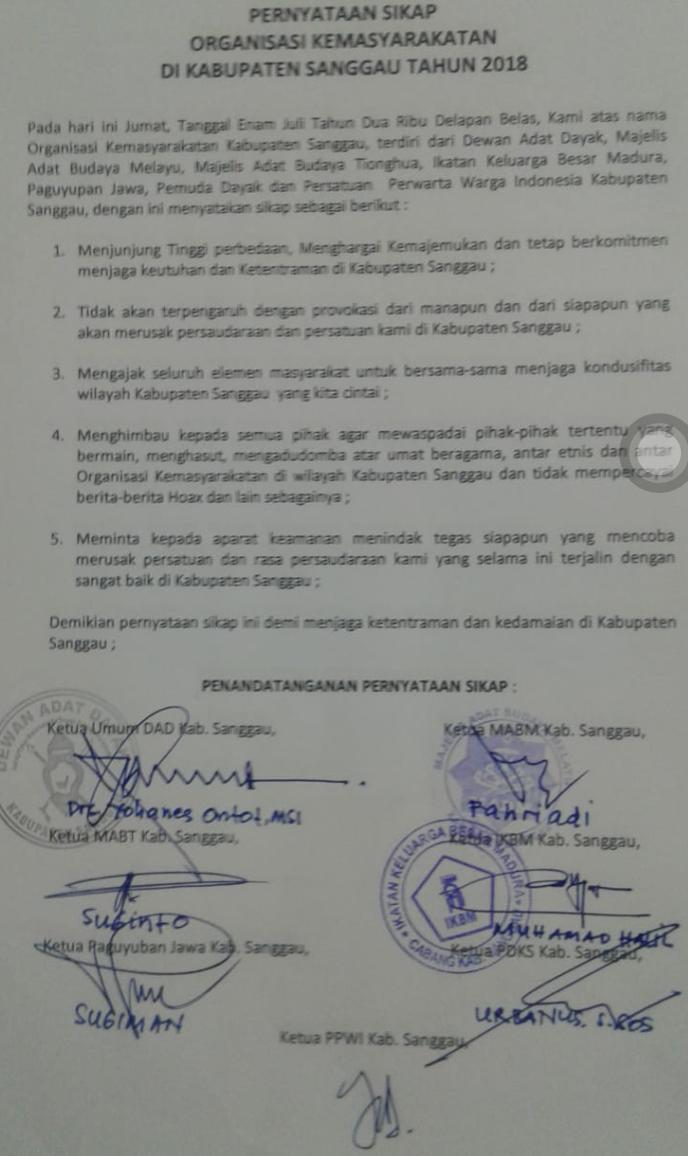 Paguyuban Jawa Kab Sanggau Dan Tokoh Masyarakat Sepakat Jaga Kondusifitas Daerah Kalbar News