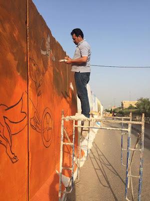 فنانو ذي قار يدشنون حملة رسم على الجدران لدعم ضم التراث العراقي الى التراث العالمي