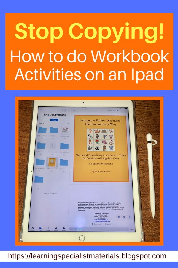 How to do workbook pages on a tablet for free.
