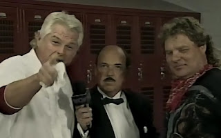 WCW UNCENSORED 1996 - Col. Parker (w/ Dick Slater) promised to beat up Madusa