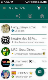 BBM MOD WhatsApp versi 2.9.0.51 for Gingerbread and Up