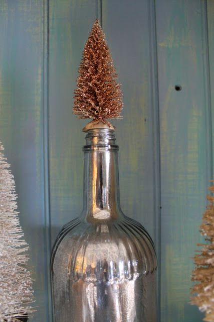 DIY silver mirror bottle