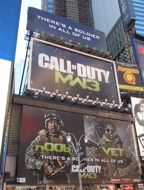 Call of Duty MW3 billboards NYC