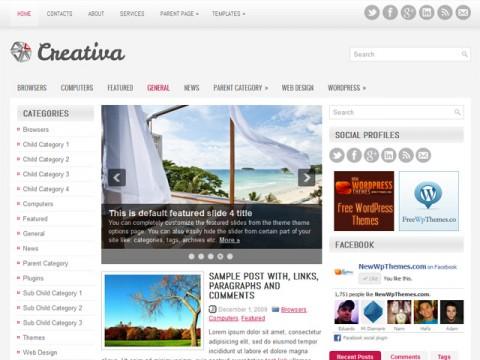 Free Creativa -  WordPress Theme
