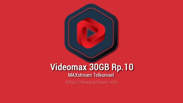 Cara Terbaru Daftar Paket Videomax Telkomsel 30GB Rp.10