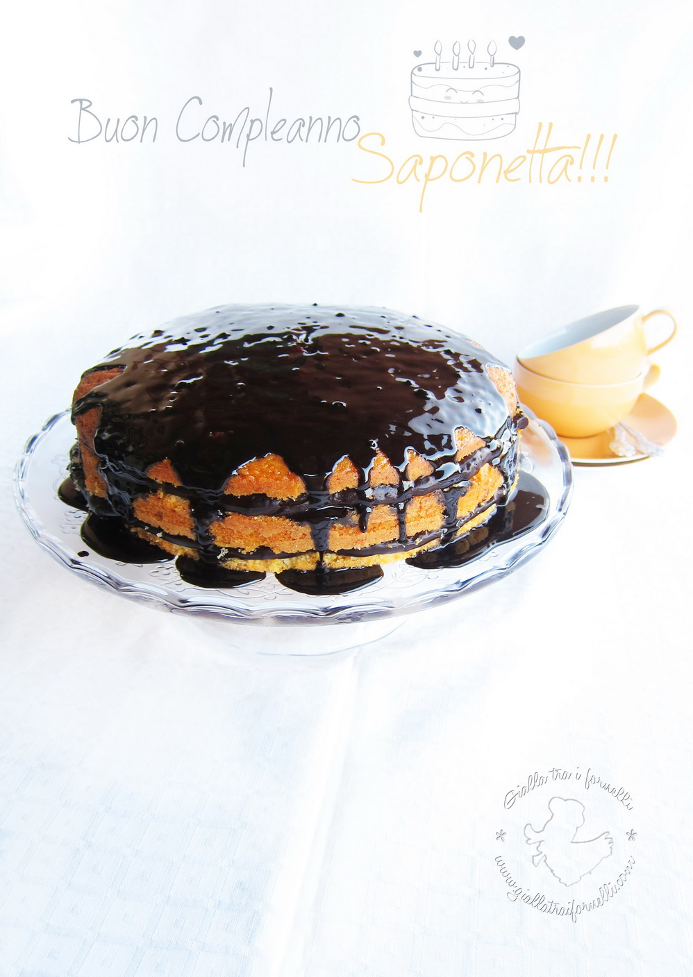 orange & dark chocolate cake - torta arancia e cioccolato fondente