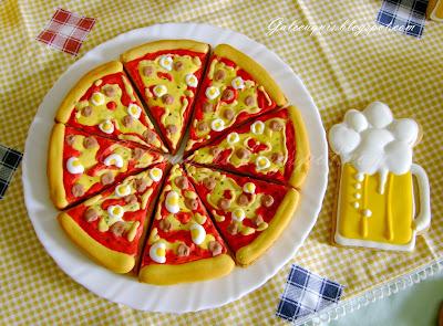 galletas decoradas pizza