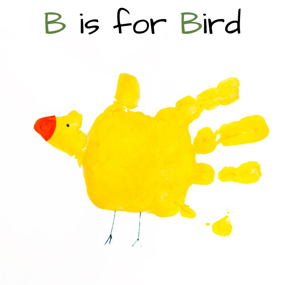 B Art: Mommy Minutes: Alphabet Handprint Art