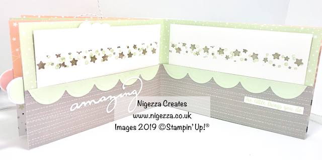 Nigezza Creates New Baby Mini Album Using Stampin' Up! Twinkle Twinkle & First Steps