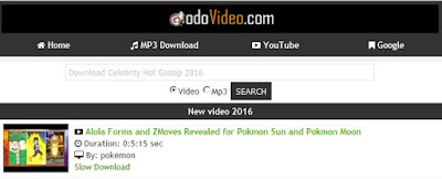 Dodovideo.com tempat download video youtube tercepat