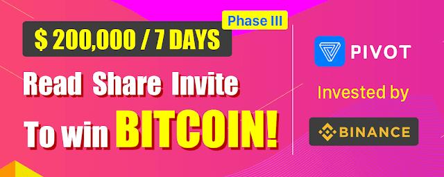 Nhận bitcoin miễn phí với Pivot