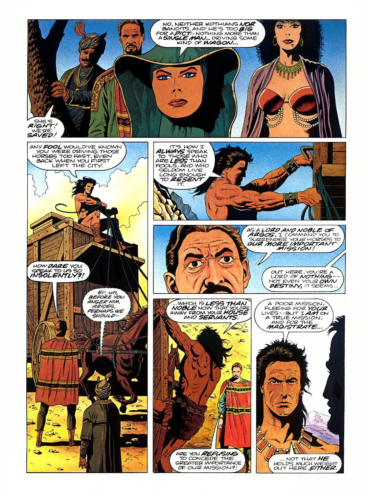 Read online Marvel Graphic Novel: Conan the Barbarian: The Skull of Set comic -  Issue # Full - 21