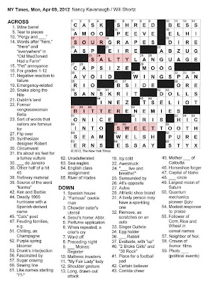 The New York Times Crossword in Gothic: 04.09.12 — A