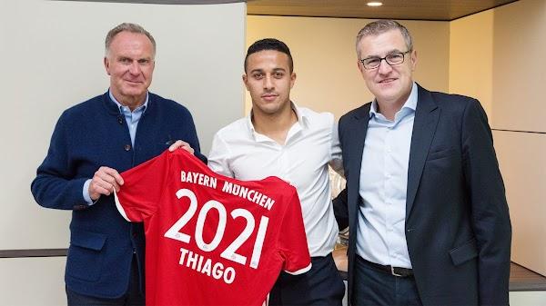 Oficial: Bayern Múnich, renueva Thiago Alcántara hasta 2021