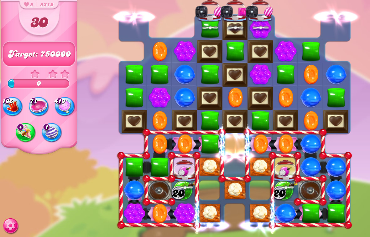 Candy Crush Saga level 5218