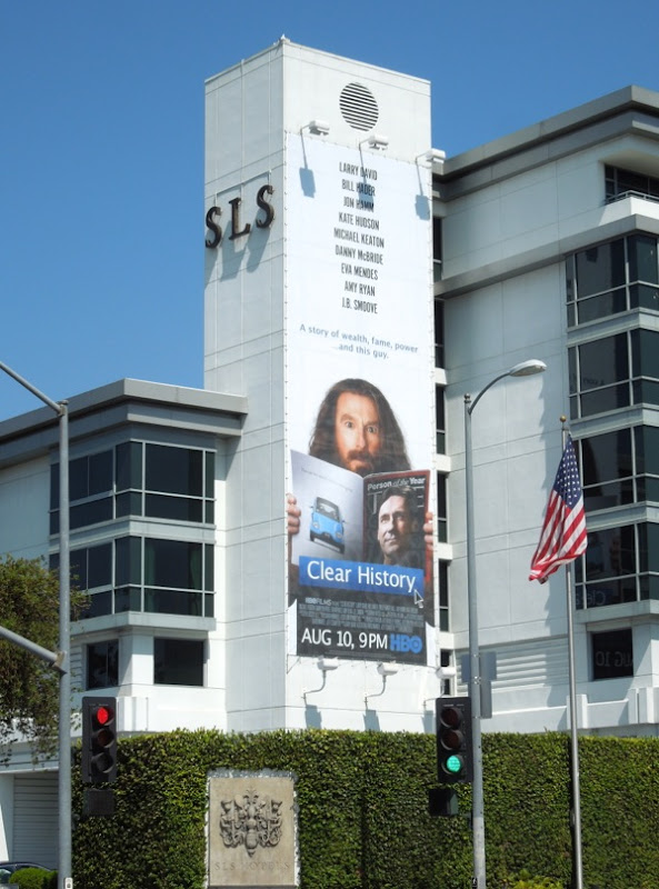 Clear History billboard SLS Beverly Hills Hotel