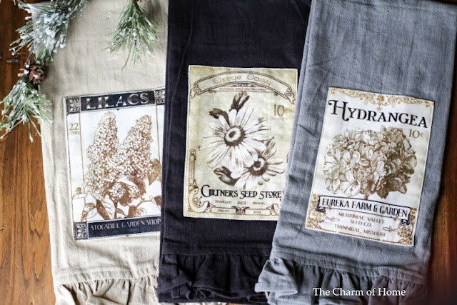 Vintage Garden Tea Towels by Heritage Lace