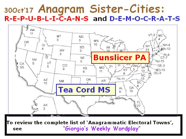 DEMOCRATS: Tea Cord MS.   REPUBLICANS: Bunslicer PA.