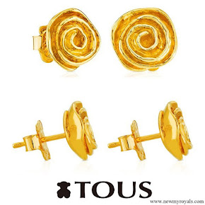 Queen Letizia wore Tous Gold Romance Earrings