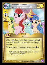My Little Pony Canterlot Citizens, Pony Populace Seaquestria and Beyond CCG Card