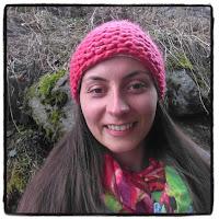 selfie bonnet en laine corail