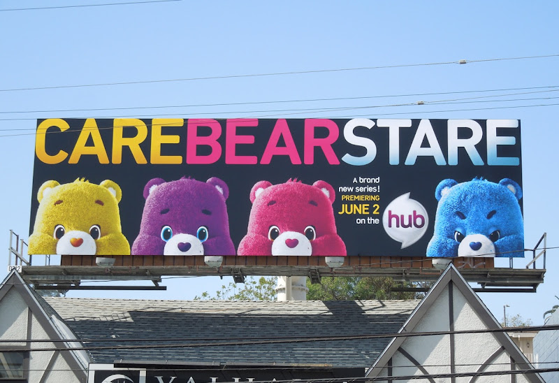 Care Bear Stare The Hub billboard