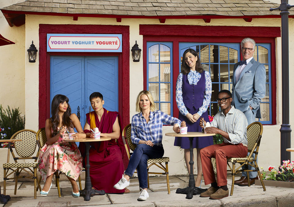 El reparto de 'The Good Place', con Kristen Bell y Ted Danson a la cabeza