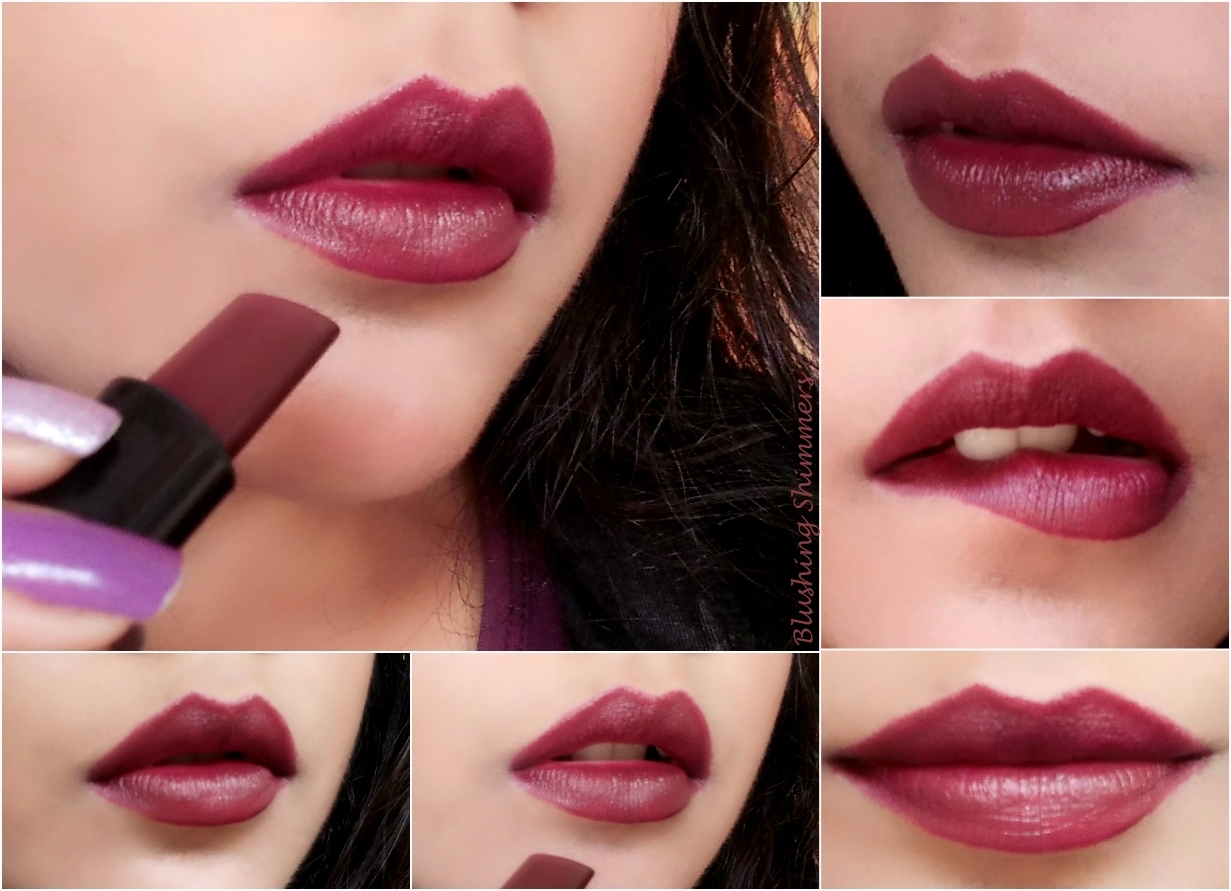 Elle 18 Matte Lipstick - Cherry Wine Swatches