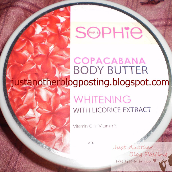Review : SOPHIE Copacabana Body Butter