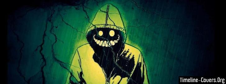 Creepy Man In The Rain Facebook Covers